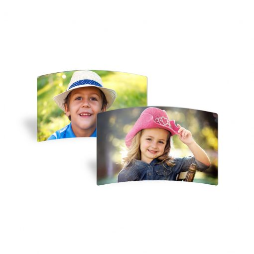 Curved Metal Smiling Kids