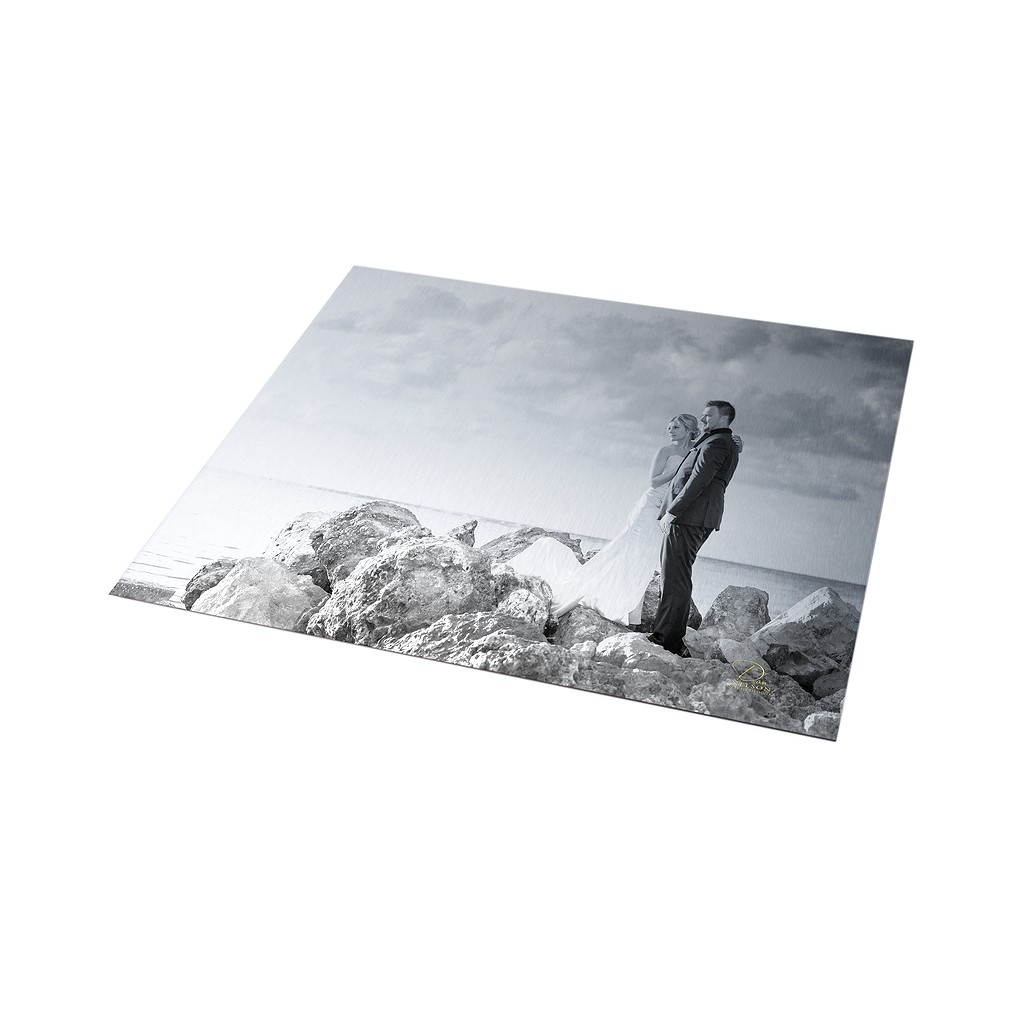 Clear Metal Prints Wedding Couple
