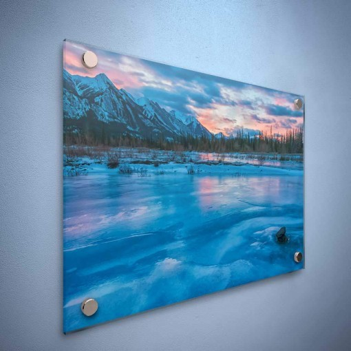 Acrylic Mounting hanging on the wall