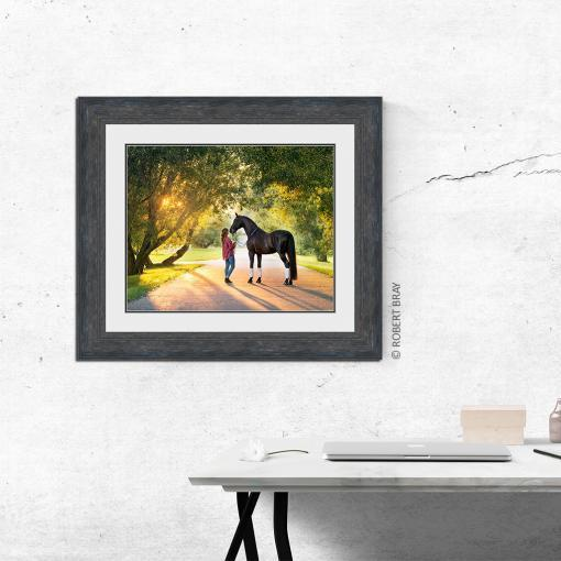 Bray Girl Horse Digital Matte Lancaster Black 569260 wall