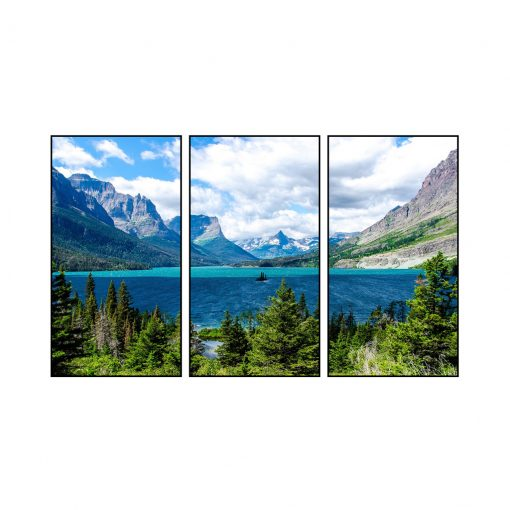 Triptych Split of Fine Art Premium Canvas