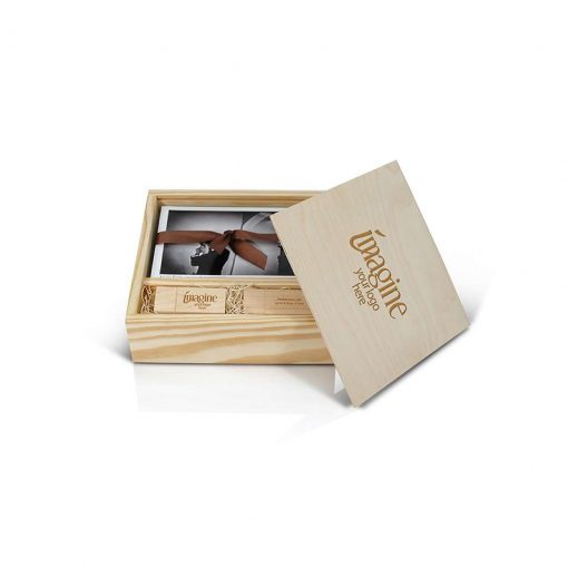 Wood Slide Box for Flash Drive 100 4x6 Prints 1