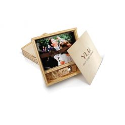 Wood Slide Box for Flash Drive 100 5x7 Prints 1