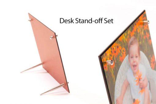 Custom Edged Masonite 04 Desk Stand Off Set