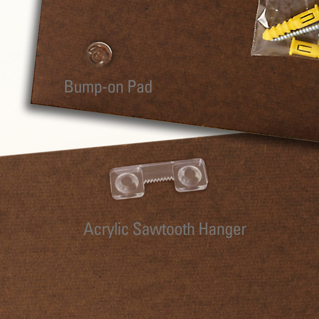 Custom Edged Masonite Hanger 02 Acrylic Sawtooth