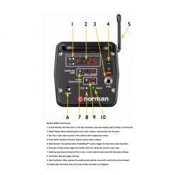 Norman Monolight Control Panel