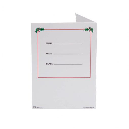Santa Folder Back