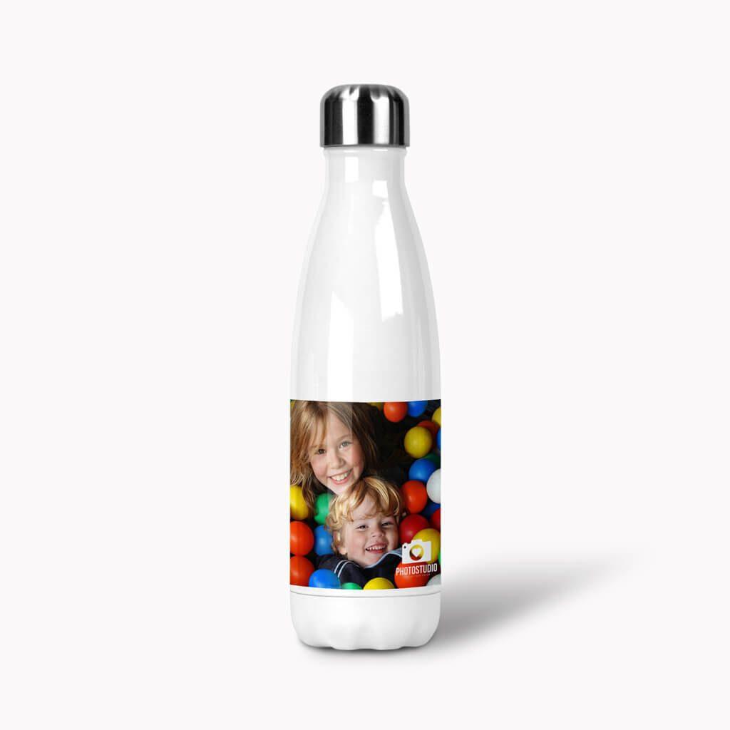 White Cola Bottle Lid On